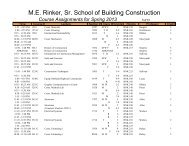Course Assignments for Spring 2013 - M E Rinker Sr School of ...