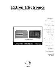 CrossPoint Series - Extron Electronics
