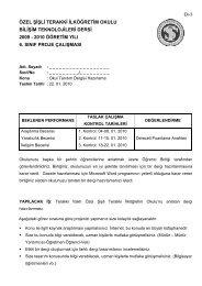 6. Sınıflar Proje Bilgilendirme - Terakki Vakfı Okulları Bilişim ...