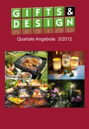 Quartals Angebote 3/2012 - GIFTS & DESIGN Homeshopping