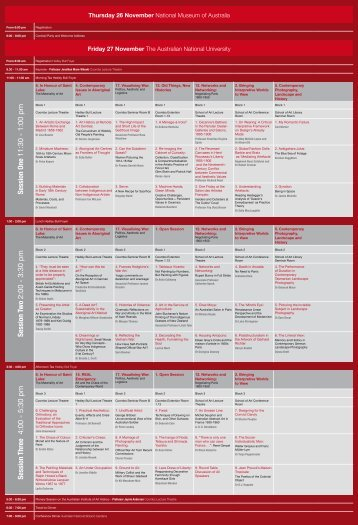 2009 AAANZ Conference Program - The Art Association of Australia ...