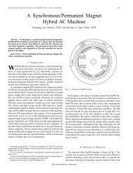 A synchronous/permanent magnet hybrid AC machine - Energy ...