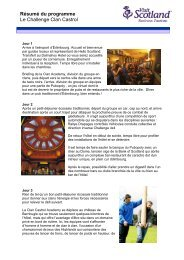 Résumé du programme Le Challenge Clan Castrol
