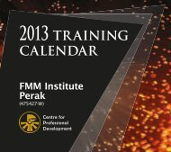 training calender 2013 - Federation of Malaysian Manufacturers