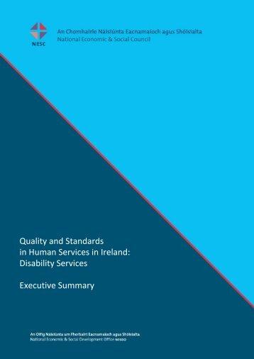 Disability Services Executive Summary