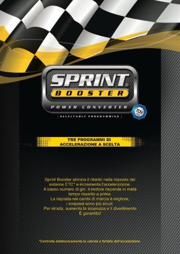 Brochure Applicativi A4 - SprintBooster