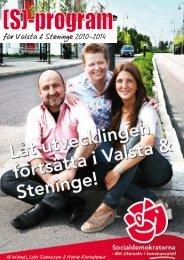 Program för Valsta & Steninge 2010-2014 - Socialdemokraterna