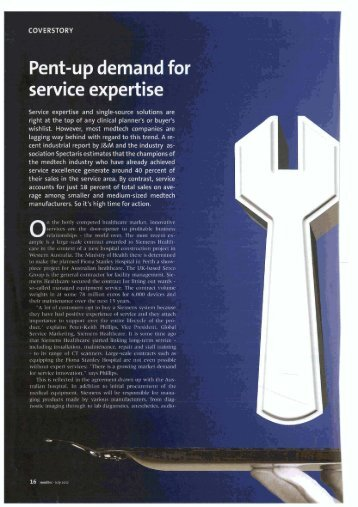 COVERSTORY Service expertise and singie ... - St. Jude Medical