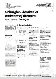 Chirurgien dentiste et assistant dentaire, formation ... - CRIJ Bretagne
