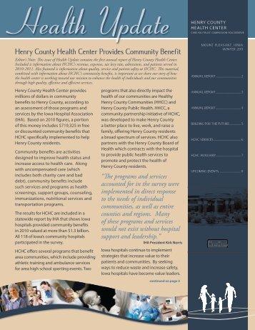 Winter 2012 Health Update - Henry County Health Center