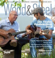 Die Taylor Produktlinie 2012 - Taylor Guitars