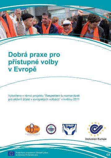 Dobrá praxe pro přístupné volby v Evropě - Společnost pro podporu ...
