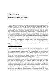 position paper responses to youth crime - Canadian Psychological ...