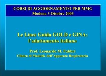Le linee guida - Clinica malattie apparato respiratorio