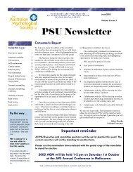 PSU Newsletter June 2005 - APS Member Groups - Australian ...
