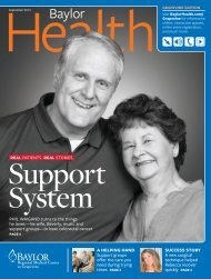 Grapevine - Baylor Online Newsroom - Baylor Health Care System