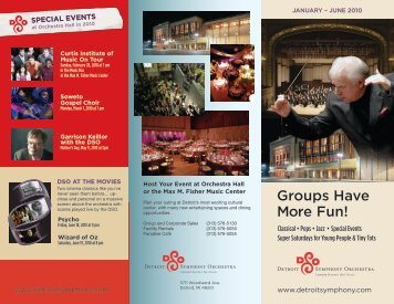 Groups Have More Fun! - Detroit Symphony Orchestra