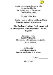 Darba vides kvalitāte un tās vadīšana Latvijas reģionu uzņēmumos ...