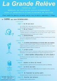 N° 1098 mai 2009 - Association pour l'Économie Distributive