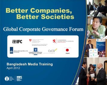 Better Companies, Better Societies - IFC
