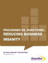 Process vs Functions Reducing Business Insanity - Gazelles