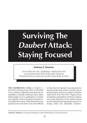 daubert vs merrell dow pharmaceuticals