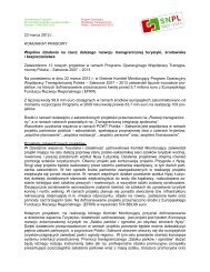 Wspólne działania na rzecz dalszego rozwoju ... - Polen 2007-2013