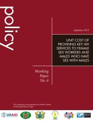 Working Paper No. 6 - Health Policy Project