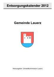 Abfall - Gemeinde Lauerz