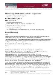 Oberlandesgericht Frankfurt am Main - Vergabesenat Beschluss 11 ...