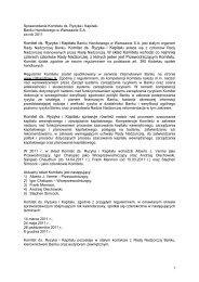 Sprawozdanie Komitetu ds. Ryzyka i Kapitału Rady Nadzorczej ...