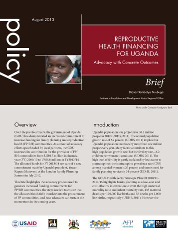 Reproductive Health Financing for Uganda: Advocacy with Concrete ...
