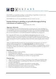 basispsycholoog in opleiding tot ... - RINO Groep
