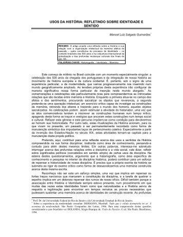 USOS DA HISTÓRIA: REFLETINDO SOBRE IDENTIDADE E SENTIDO