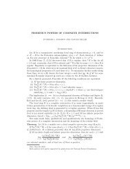 FROBENIUS POWERS OF COMPLETE INTERSECTIONS ...