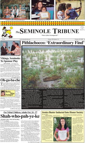 October 20 - Seminole Tribe of Florida