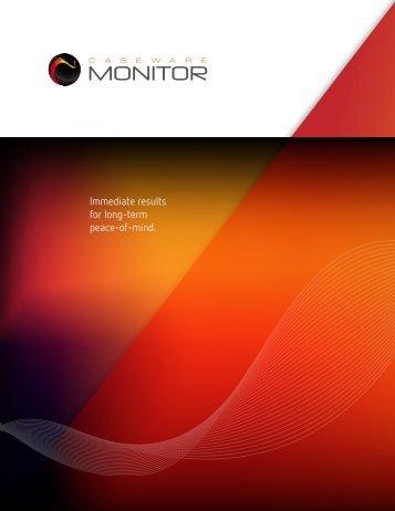 CaseWare Monitor Product Profile - AuditWare Systems Ltd
