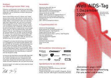 AHW Folder 2007 - AIDS-Hilfe Wuppertal eV