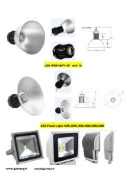 www.gaintop.fr LED HIGH-BAY 50°and 12 LED Flood Light-10W ...