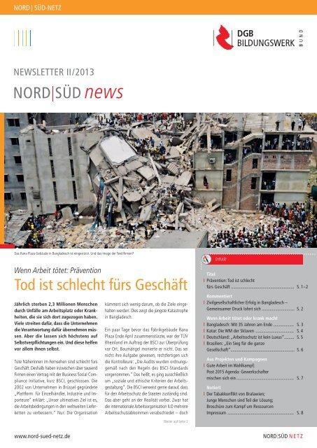 NORD SÜD news Tod ist schlecht fürs Geschäft - Nord-Süd-Netz