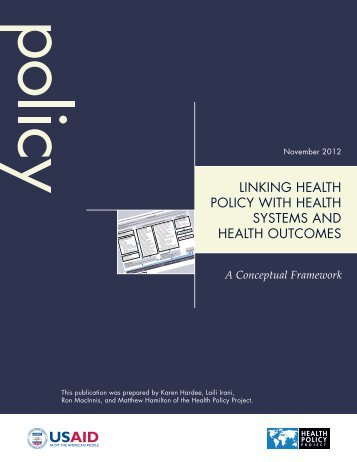 linking health policy with health systems and health outcomes