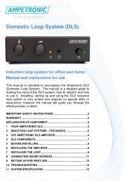 Domestic Loop System (DLS) - Hearing Loop