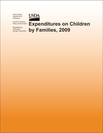 Expenditures on Children by Families, 2009 - Center for Nutrition ...