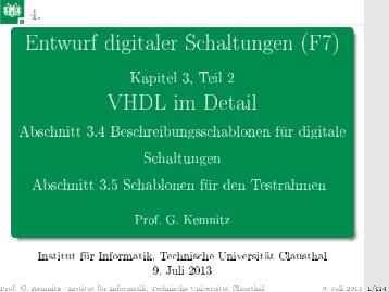 7 - Technische Universität Clausthal