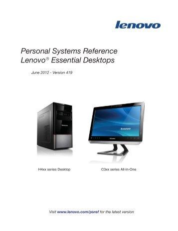 Lenovo Essential Desktop