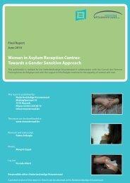 Women in Asylum Reception Centres: Towards a ... - igvm - Belgium