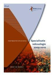 Specialisatie seksuologie 2009-2010 - RINO Groep