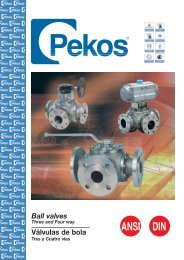 Díptico Pekos 3 Vías - Process Valve Solutions Ltd