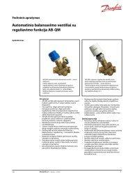 Automatinio balansavimo ventiliai su reguliavimo funkcija ... - Danfoss