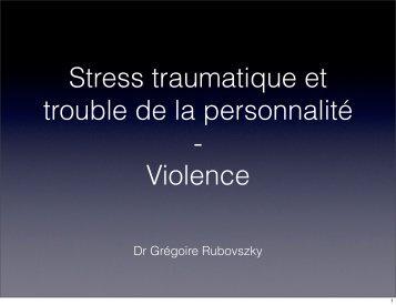 Dr Grégoire Rubovszky - Stress-trauma.com